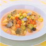 ミガキニシンのオクラ入りスープ